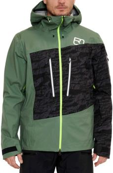 Ortovox 3L Guardian Shell Ski/Snowboard Jacket, L Green Forest