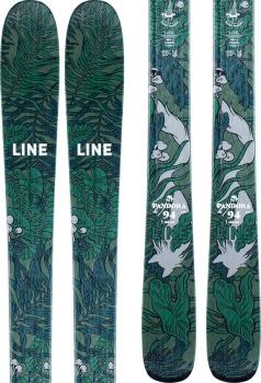 LINE Pandora 94 Ski Only Women's Skis, 158cm Green/Blue 2021