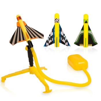 Stomp Rocket Stunt Planes Garden Toy, Yellow