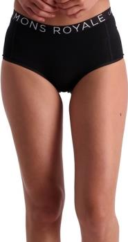 Mons Royale Sylvia Boyleg Women's Merino Wool Boxers, UK 8 Black