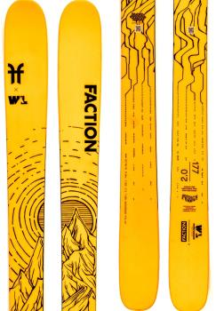 Faction Prodigy 2.0 Ski Only Skis, 171cm Wells Lamont Collab 2021