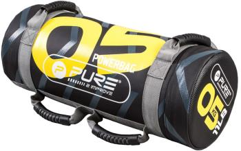 Pure 2 Improve Crossfit Filled Weighted Power Bag, 5 kg Black/Yellow