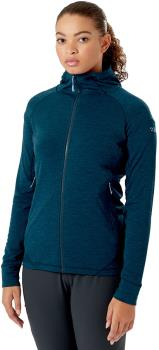 Rab Nexus Jacket Full Zip Women's Fleece, UK 10 Deep Ink