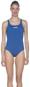 arena Solid Pro Women's One-Piece Swimsuit, UK 36 Royal Blue/White