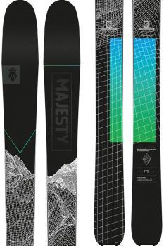 Majesty Superwolf Carbon Ski Only Skis, 172cm Black/Green/Blue 2021