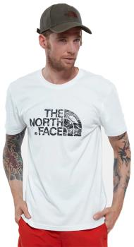 The North Face Adult Unisex Woodcut Dome Short Sleeve T-Shirt, L Tnf White