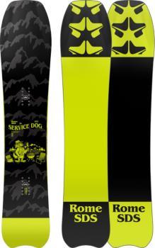 Rome Service Dog Hybrid Camber Snowboard, 153cm 2022