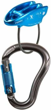 Ocun Eagle/ Ferry Triple Rock Climbing Belay Set, Anthracite/Blue
