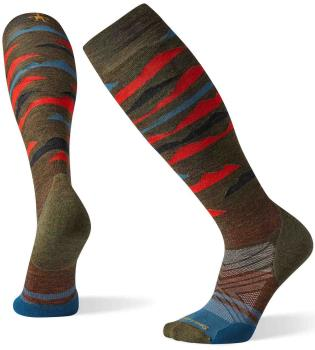 Smartwool PhD Ski Light Elite Pattern Snowboard/Ski Sock L Olive