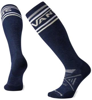 Smartwool PhD Snow Vans Classic Stripe Medium Snowboard Socks L Navy
