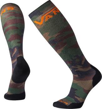 Vans PHD Light Elite Merino Wool Snowboard Socks, S Camo