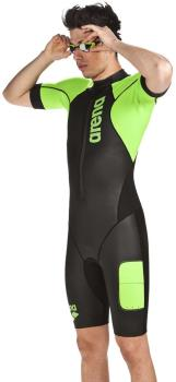 arena Neoprene SwimRun Performance Wetsuit, XL Black/Fluo Green