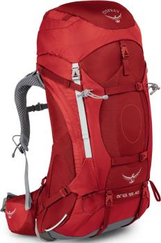 Osprey Ariel AG 55 WM Trekking Backpack, 55L Picante Red