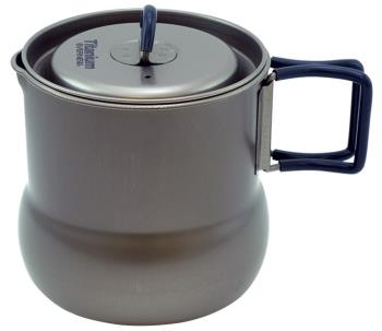 Evernew Titanium Tea Pot 500 Ultralight Camping Kettle Pot, 600ml