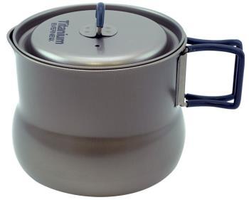 Evernew Titanium Tea Pot 800 Ultralight Camping Kettle Pot, 800ml