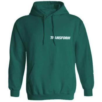 Transform Fast Text Pullover Hoodie, XL Teal