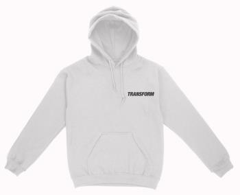 Transform Fast Text Pullover Hoodie, XL White