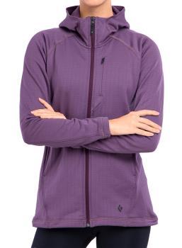 Black Diamond Factor Fleece Hoody Women's Full-Zip Jacket UK 14 Plum