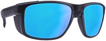 Majesty Vertex Polarized Blue Mirror Mountain Sunglasses, OS Black