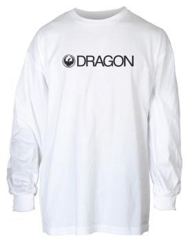 Dragon Trademark Long Sleeved T-Shirt, S White