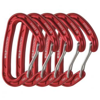 Wild Country Astro Rock Climbing Carabiner Red 5 Pack