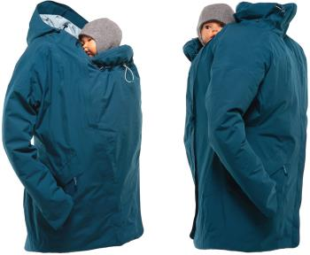 Mamalila WinterWander Baby Wearing Maternity Parka Coat, UK 16 Teal