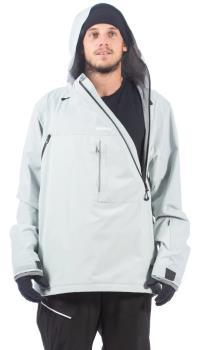 Bonfire Beta Stretch Pullover Ski/Snowboard Jacket, XL Light Grey