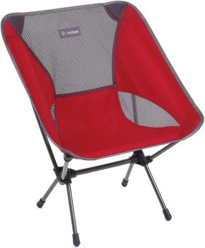 Helinox Chair One Lightweight Compact Camp Chair, Scarlet/Iron