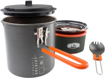 GSI Outdoors Pinnacle Soloist 2 Compact Camping Solo Cookset, 1.1L