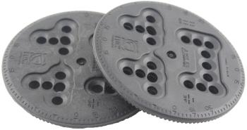 Flow Disc Kit Replacement + Screws Snowboard Binding Discs 10cm Grey