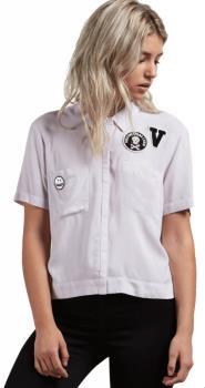 Volcom Womens Stone Resort Women's Short Sleeve Shirt, M Light Purple