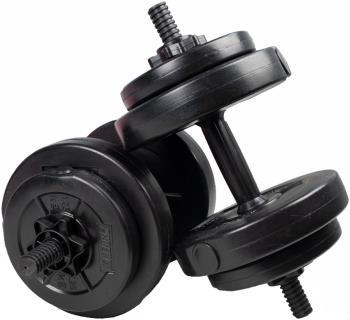 Phoenix Fitness Adjustable Dumbbell Weights Set, 15 KG Total Black