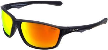 Sinner Adult Unisex Eyak Sintec Smoke Flame Wrap Around Sunglasses, M Cry Black