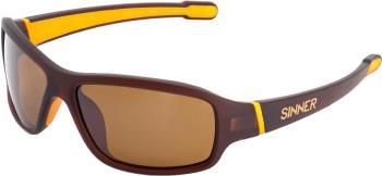 Sinner Ros X Brown Flash Mirror Wrap Around Sunglasses, Matte Brown