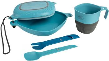 UCO 6-Piece Mess Kit Camping Tablewear + Cutlery, Blue