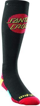 thirtytwo Santa Cruz Ski/Snowboard Socks, S/M Black