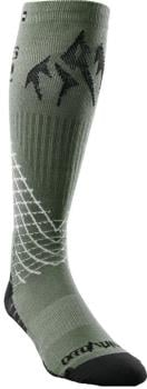 thirtytwo Jones Bamboo ASI Snowboard Socks, L/XL Green