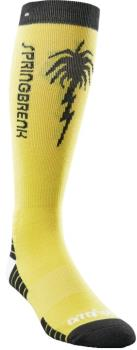 thirtytwo Spring Break Snowboard/Ski Socks, S/M Light Yellow