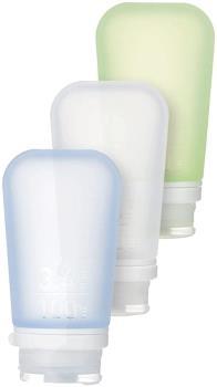Humangear GoToob+ 3-Pack Soft Travel Liquid Tube, 100ml Cl/Gn/Bl
