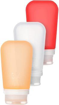 Humangear GoToob+ 3-Pack Soft Travel Liquid Tube, 100ml Cl/Rd/Or