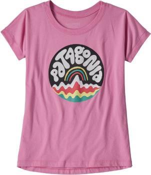 Patagonia Graphic Organic Girls T-Shirt, 5-6yrs Marble Pink