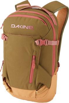 Dakine Womens Heli Pack Women's Snowboard/Ski Backpack, 12l Dark Olive/Caramel
