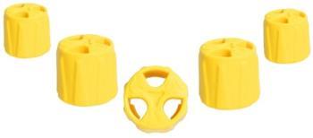 Grivel Black Hole Set Ice Screw Protector Caps, Yellow