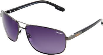 Sinner Brandon X Gradient Smoke Wayfarer Sunglasses, Gun Metal