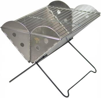 UCO Grilliput Flatpack Grill Portable Camping Grill & Firepit, Silver
