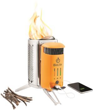 BioLite Campstove 2+ Woodburning Stove & USB Charger, Silver