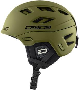 Dirty Dog Zodiak Ski/Snowboard Helmet, M Matte Khaki
