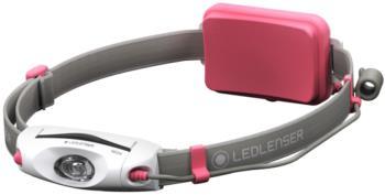 Led Lenser NEO4 Headlamp IPX7 Lightweight Running Head Torch, Pink