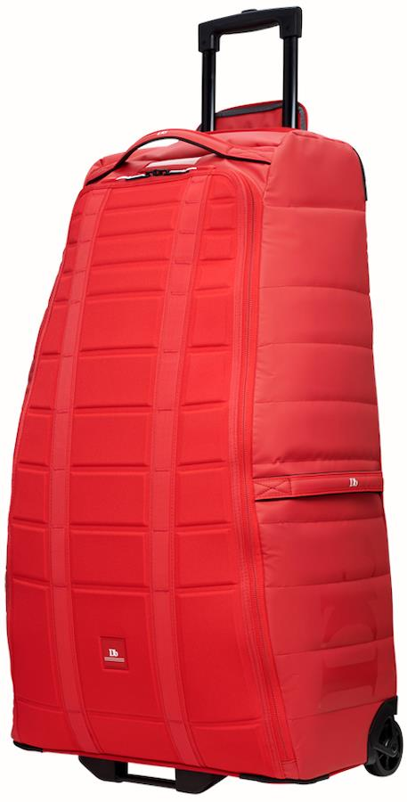 Douchebags The Big Bastard Wheeled Luggage Bag, 90l Scarlet Red