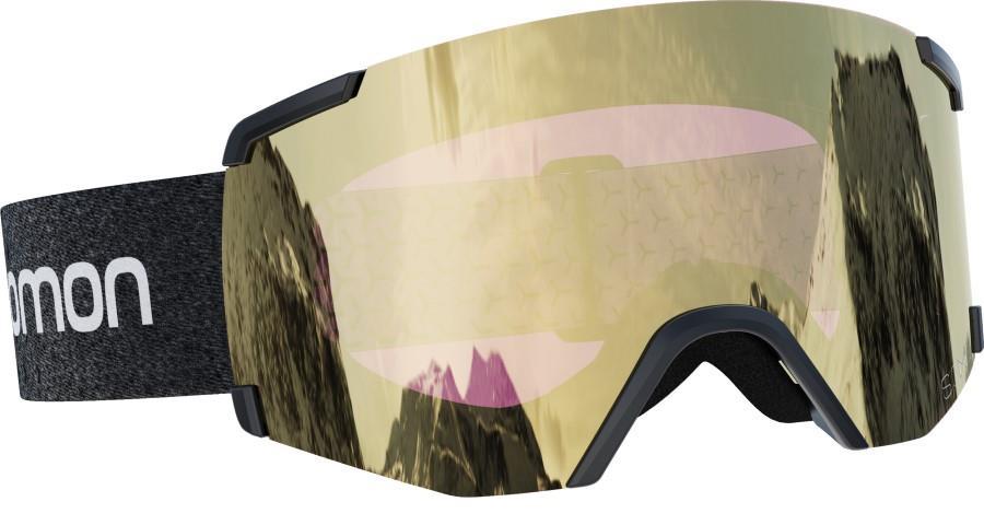 Salomon S/View Sigma Black Gold Snowboard/Ski Goggles, M/L Black/Sol